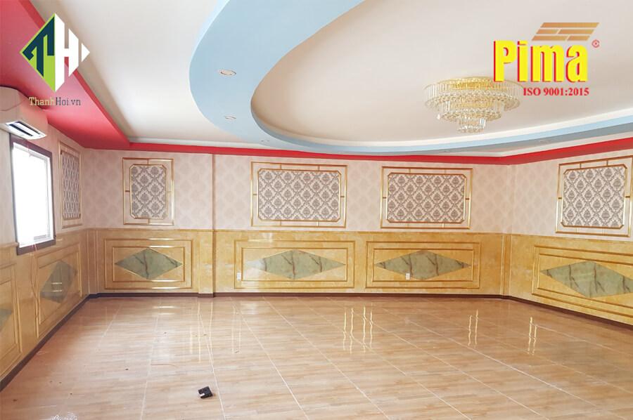 Nội thất phòng Vip nhà hàng với Tấm Pima Cẩm Thạch