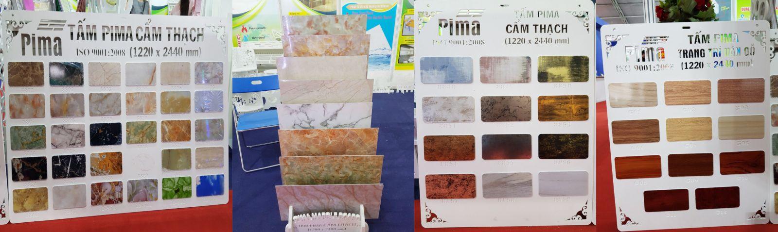 Tấm ván nhựa Pima tại hội chợ VIETBUILD tại tphcm