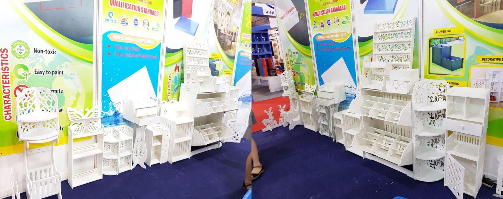 Tấm ván nhựa Pima tại hội chợ VIETBUILD thật ấn tượng